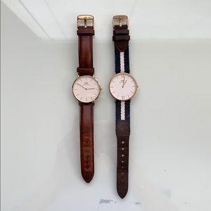 2 Daniel Wellington Watches - Great Condition